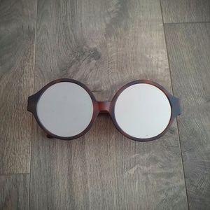 Vera Wang Soline Matte Sunglasses Mirrored Round